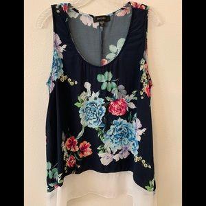 Karen Kane Floral Sleeveless Blouse - Size 2X